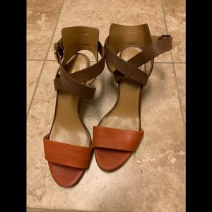 Nine West  Wedge leather sandals